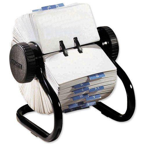 Rolodex Mini Rotary Card File Black S0793590