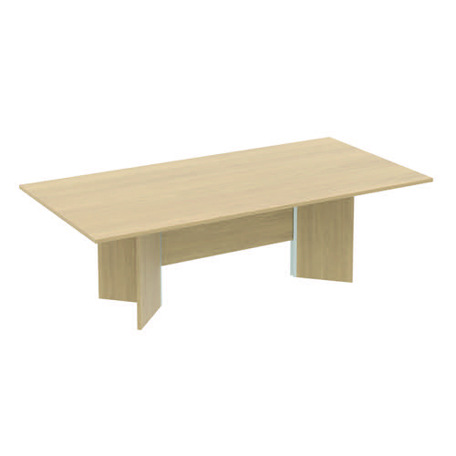 Baseline Rectangular Conference Table 2400x1000x740mm Maple ALCT24/10/BM
