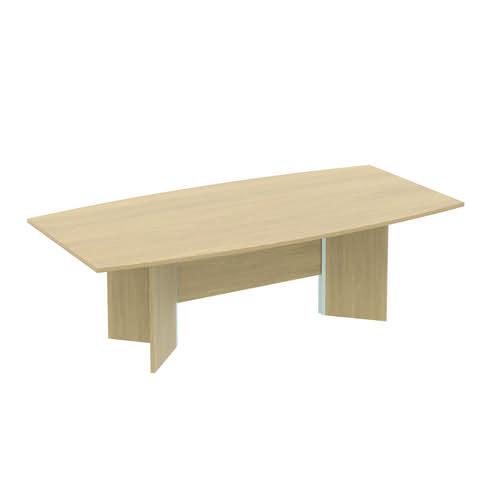 Baseline Barrel Conference Table 2400x1200x740mm Oak ALBST24/12/BO