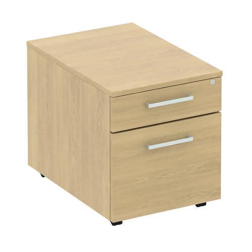 Baseline Low Under Desk Mobile Pedestal 422x500x490mm Oak BLMPF/BO