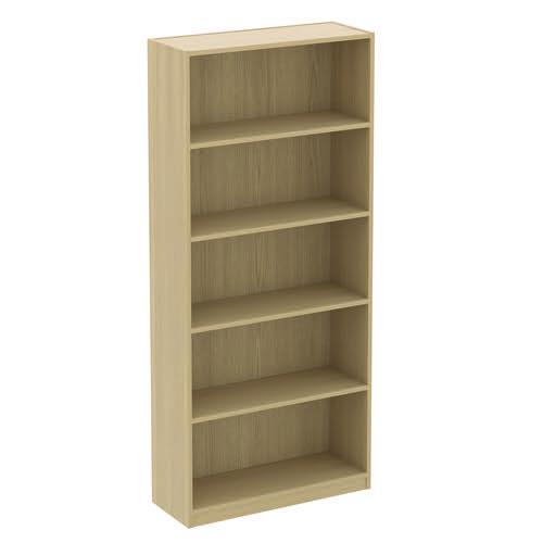 Baseline Bookcase 2 Shelves 1000x400x1200mm Beech BLBC12/10/BB