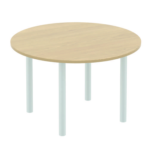 Baseline Circular Meeting Table 1600x740mm White ALCMT16/BWH