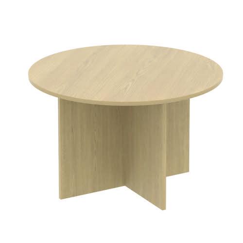 Baseline Circular Meeting Table 1600x740mm Oak ALCCMT16/BO