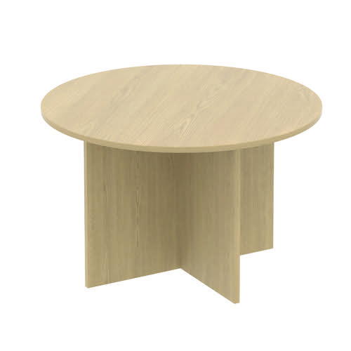 Baseline Circular Meeting Table 1600x740mm Maple ALCCMT16/BM