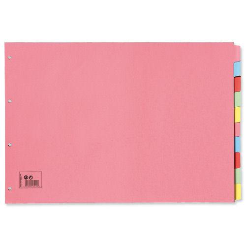 Value Subject Dividers 10 Part A3 Multicolour