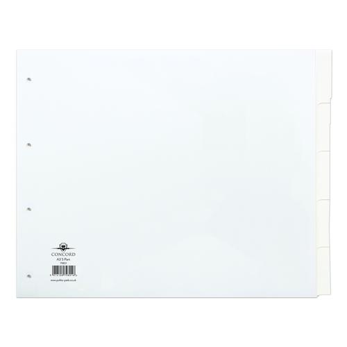 Concord Manilla Subject Dividers A3 5 Part White 79801/98
