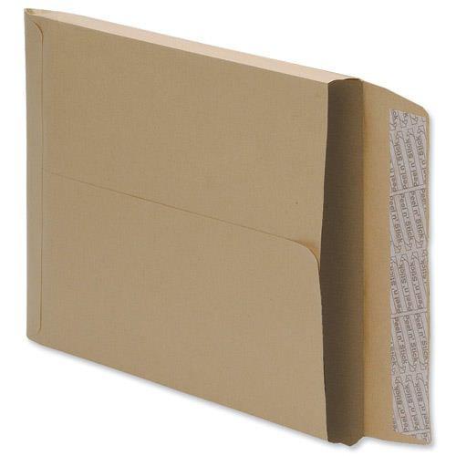 Value Gusset Envelopes Peel & Seal C4 x25mm Manilla 115gsm (125)