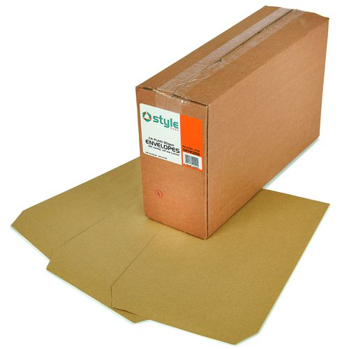 Style CORE Pocket Envelopes Self-Seal C4 Manilla 90gsm (250)