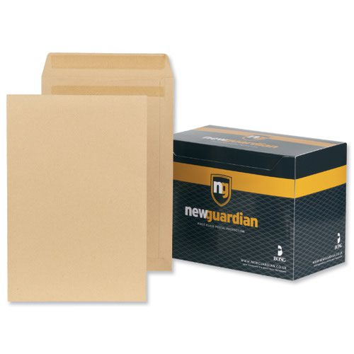 New Guardian Pocket Envelopes Self-Seal 381x254mm Manilla 130gsm (250) J27403