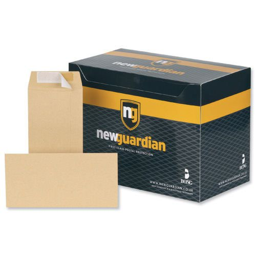 New Guardian Wallet Envelopes Self-Seal Window DL Manilla 80gsm (1000) E22211