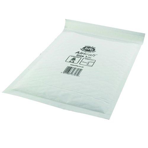 Jiffy Airkraft Bubble Lined Bag Size 1 170x245mm White (100) JL-1