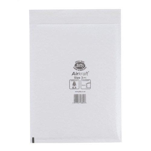 Jiffy Airkraft Bubble Lined Bag Size 3 205x320mm White (50) JL-3