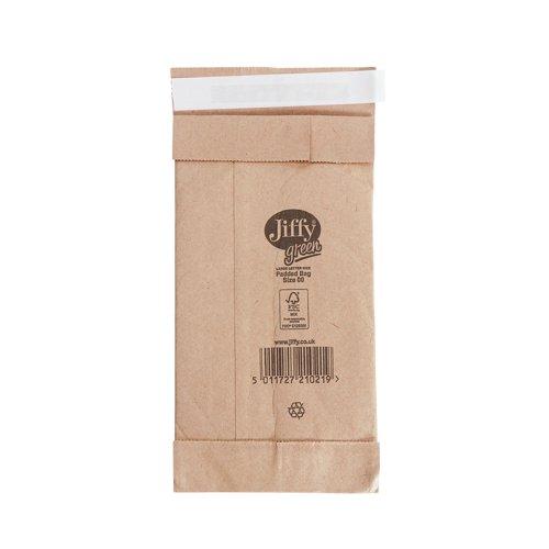 Jiffy Bag Size 00 107x235mm Gold (200) JPB-00