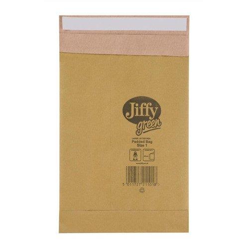 Jiffy Green Mailing Bag Size 1 164x285mm Gold (100) JPB-1