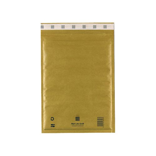 Mail Lite Bubble Lined Bag G/4 240x330mm Gold (50) MLG4