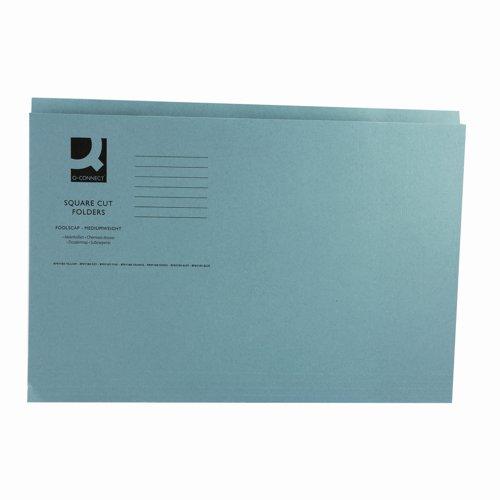 Value Square Cut Folder Foolscap Blue 250gsm