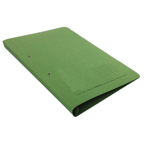 Value Transfer Spring Pocket File Foolscap Green 315gsm