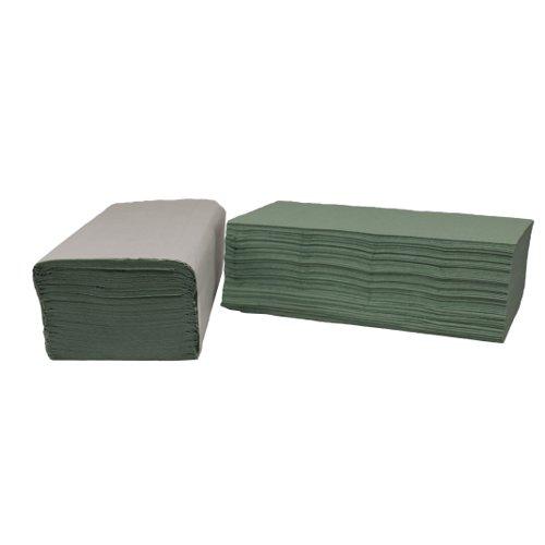 Hand Towels 1Ply I-Fold 242x222mm Green (3600)