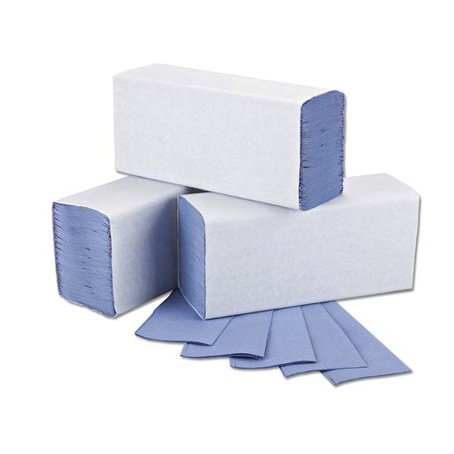 Hand Towels 1Ply M-Fold 242x240mm Blue (3000)