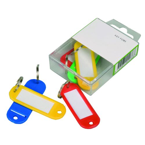 Value Key Hangers Assorted Colours (6)