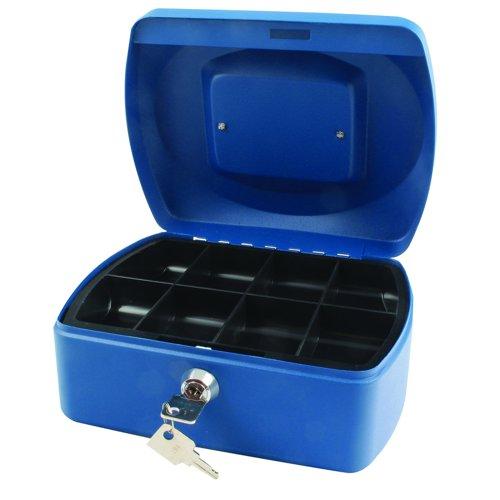 Value Cash Box 196mm Blue