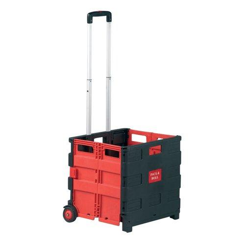 Barton Foldable Box Trolley Red/Black FBT