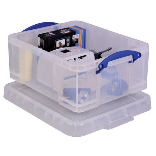 Really Useful Storage Box 18litre 485x385x200mm Clear 18C