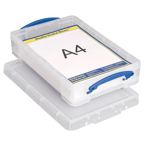 Really Useful Storage Box 4litre 395x255x80mm Clear 4C