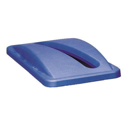 Rubbermaid Slim Jim Recycling System Paper Slot Lid Blue 270300BLUE