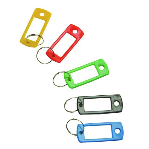 Value Key Hangers Assorted Colours (100)
