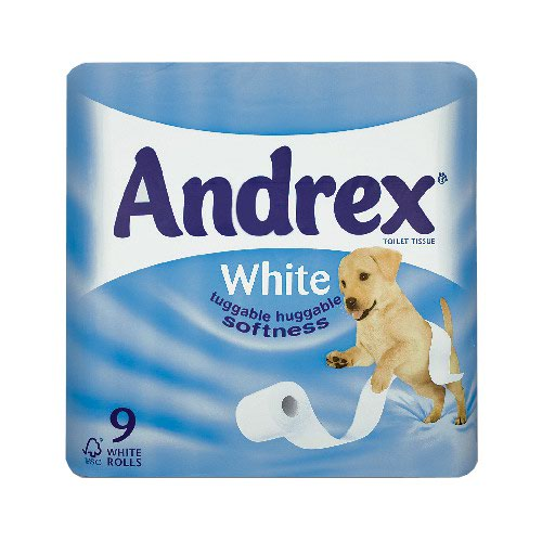 Andrex Classic White Toilet Tissue 2ply (9) 4453610