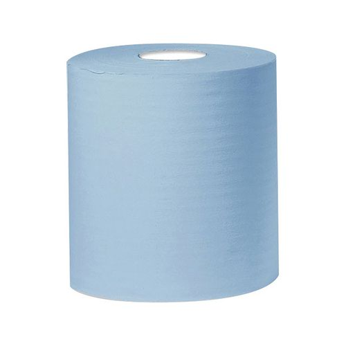 Centrefeed Hand Towel Roll 1-Ply 300m Blue (6)