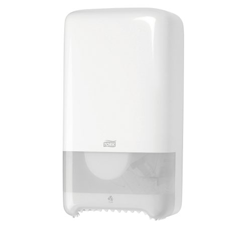 Tork T6 Mid Size Twin Toilet Roll Dispenser White 557500