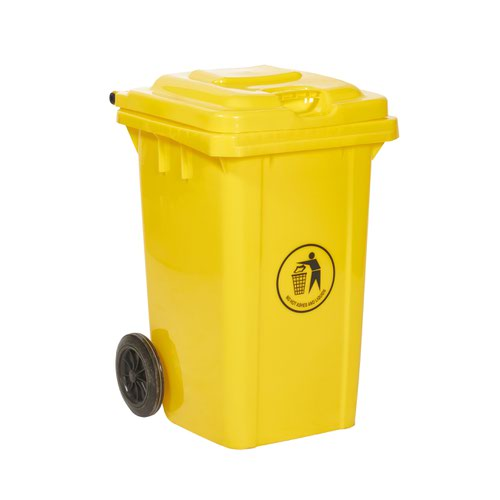 Wheelie Bin 80 Litre Yellow