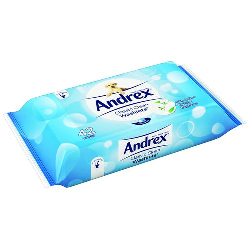 Andrex Washlets Flushable Moist Wipes (42) 0699204