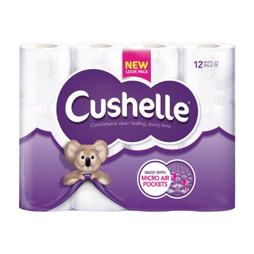 Cushelle Toilet Roll 180sheets White (12)