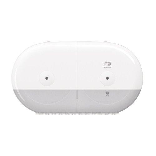 Tork T9 SmartOne Twin Toilet Paper Dispenser White 682000