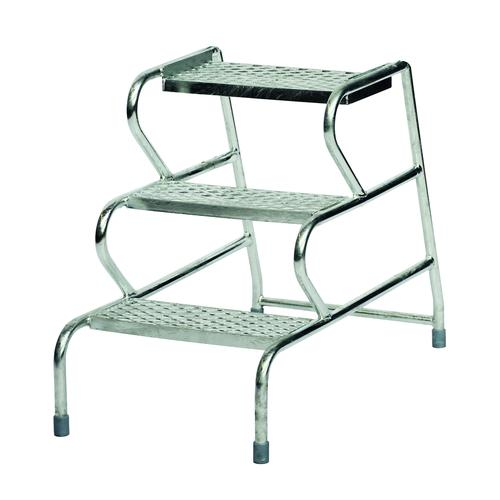 Fort Stable Mobile Steps 3 Step No Handrail 600mm Galvanised GS3003G