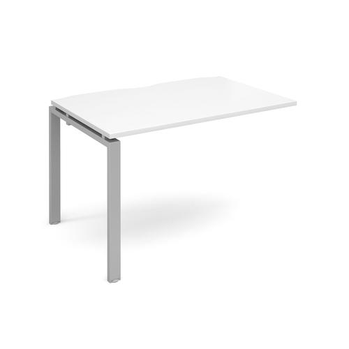 Adapt II Bench System Add On Desk 1200x800x725mm Silver/White E128-AB-S-WH