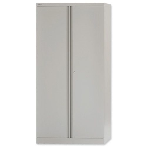 Bisley Cupboard 2 Door 1000mm Grey E402A01-v4