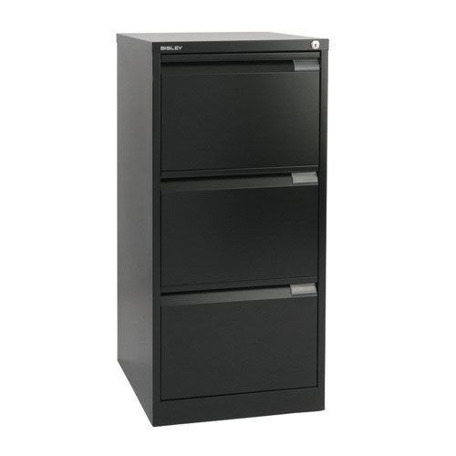 Bisley Filing Cabinet 3 Drawer 470x622x1016mm Black BS3E
