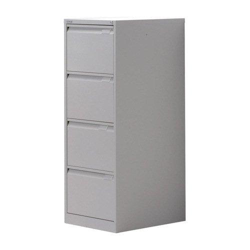 Bisley Filing Cabinet 4 Drawer 470x622x1321mm Grey BS4EGY