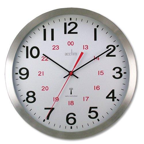 Acctim Century Radio Controlled Wall Clock 250mm Aluminium