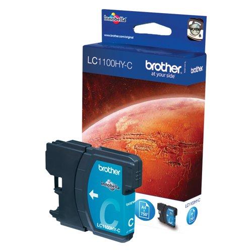 Brother Inkjet Cartridge High Capacity Cyan LC1100HYC