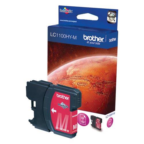 Brother Inkjet Cartridge High Capacity Magenta LC1100HYM