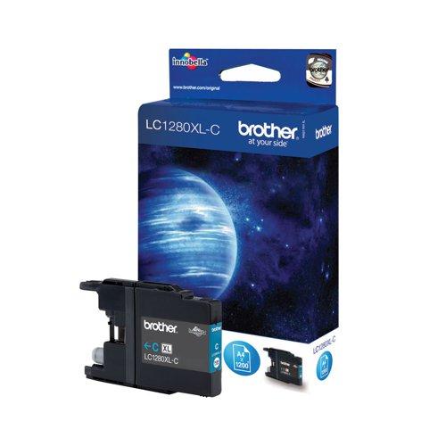 Brother Inkjet Cartridge High Capacity Cyan LC1280XLC