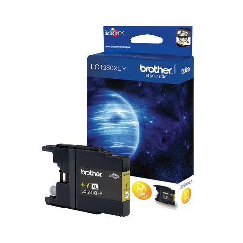 Brother Inkjet Cartridge High Capacity Yellow LC1280XLY