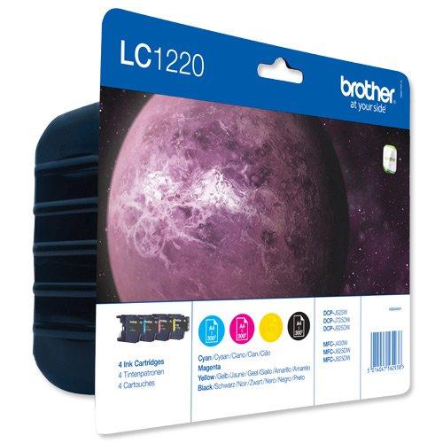 Brother Inkjet Cartridge Black/Cyan/Magenta/Yellow Value Pack LC1220VALBP
