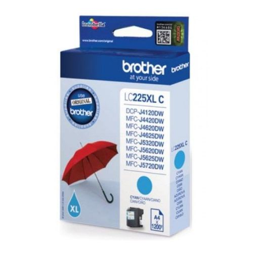 Brother Inkjet Cartridge High Capacity Cyan LC225XLC