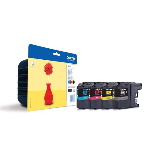 Brother Inkjet Cartridge Black/Colour Value Pack LC121VALBP